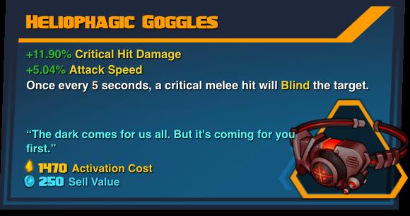 Heliophagic Goggles