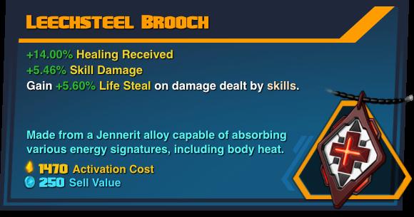 Leechsteel Brooch