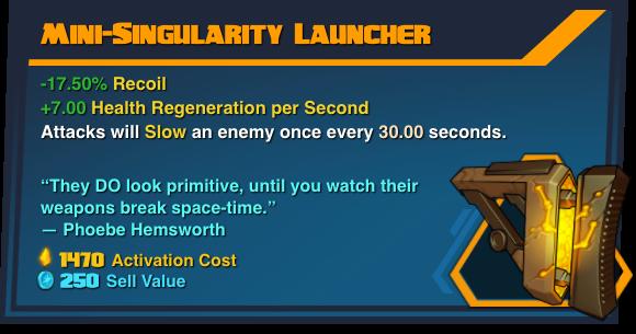 Mini-Singularity Launcher